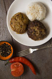 Europen meatballs with rice Royalty Free Stock Images