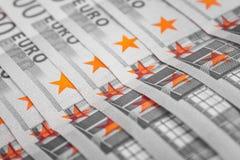 500 europengarräkningar, europeisk valutakassa Royaltyfri Bild