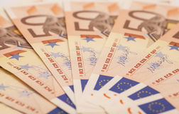Europengarsedlar euro 50 Arkivfoton