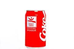 Europeo Coca Cola Can del vintage Fotografía de archivo