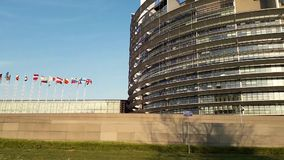 Europeo del parlamento almacen de video