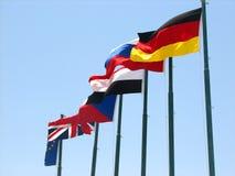europeo e bandierine dell'egitto Immagine Stock