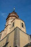 Europeo exterior Churc del ladrillo de la arquitectura de Leipzig Nikolaikirche fotografía de archivo libre de regalías