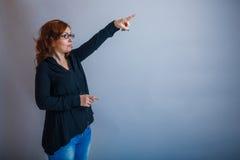 Europeo - la mirada de la mujer de 30 años es Fotos de archivo libres de regalías