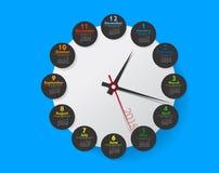Europeo simple calendario del vector de 2015 años Fotos de archivo libres de regalías