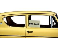 Europese auto voor verkoop stock afbeelding
