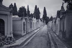 Europese begraafplaatsstraat royalty-vrije stock foto