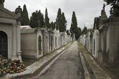 Europese begraafplaatsstraat stock afbeelding