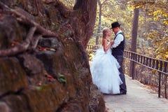 Europese bruid en bruidegom Royalty-vrije Stock Fotografie