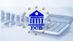 Europese Centrale Bank ECB Financiën hoofdbankwezen en investeringsconcept vector illustratie