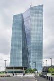 Europese Centrale Bank in Frankfurt stock foto