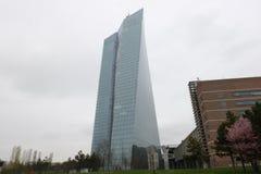 Europese Centrale Bankecb in Frankfurt royalty-vrije stock fotografie