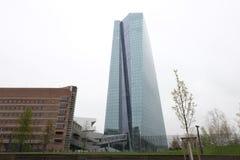 Europese Centrale Bankecb in Frankfurt stock foto's