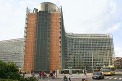 Europese commissie die Brussel bouwt Stock Afbeeldingen