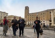 Europese commissione lecce 2019 van Arische Berg Stock Foto's