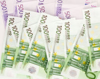 Europese euro Munt, Stock Foto's