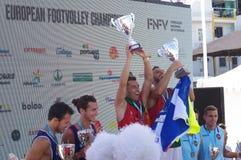Europese Footvolley-Kampioenenceremonie Royalty-vrije Stock Afbeeldingen