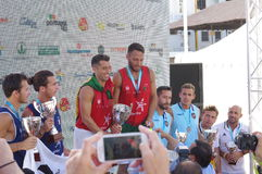 Europese Footvolley-Kampioenenceremonie Royalty-vrije Stock Foto
