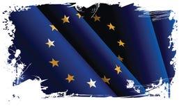 Europese grungevlag. Stock Fotografie