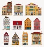 Europese huizen Royalty-vrije Stock Afbeeldingen