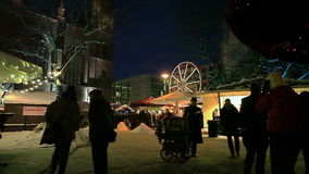 Europese Kerstmis, Berlijn stock footage