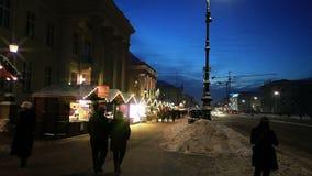 Europese Kerstmis, Berlijn stock videobeelden