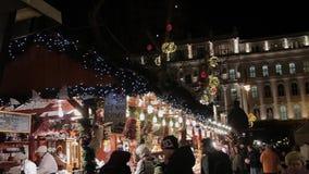 Europese Kerstmis, Boedapest stock footage