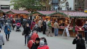 Europese Kerstmis, Boedapest stock videobeelden