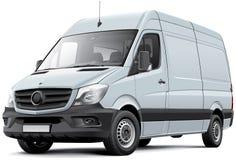 Europese leveringsbestelwagen Stock Foto's