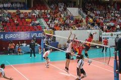 Europese ligue van de volleyballgelijke royalty-vrije stock foto