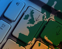 Europese mededelingen Stock Afbeelding
