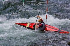 Europese Mindere en U23 de Kampioenschappen van de Slalom van de Kano Stock Afbeelding