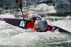 Europese Mindere en U23 de Kampioenschappen van de Slalom van de Kano Stock Afbeeldingen