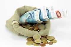 Europese munt stock foto