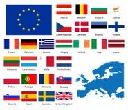 Europese naties stock illustratie