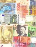 Europese nota'sachtergrond Royalty-vrije Stock Foto's