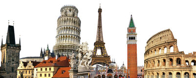 Europese oriëntatiepunten Stock Foto's