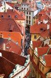 Europese oude stadsstraat Royalty-vrije Stock Foto