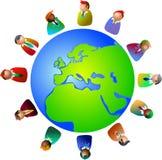 Europese stafmedewerkers stock illustratie