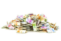Europese stapel van geld Stock Fotografie