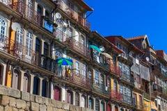 Europese Stijlgebouwen, Porto, Portugal royalty-vrije stock afbeelding