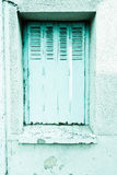 Europese traditie houten vensters Stock Afbeelding