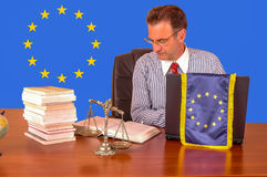 Europese Unie advocaat Stock Afbeeldingen