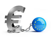 Europese Unie crisis Royalty-vrije Stock Foto