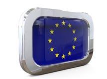 Europese Unie 3D illustratie van de Knoopvlag Stock Foto's