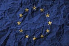 Europese Unie & x28; De EU & x29; met hoog detail van oud vuil verfrommeld document 3D Illustratie Royalty-vrije Stock Afbeeldingen