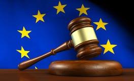 Europese Unie de Wet en de Rechtvaardigheid van de EU Stock Afbeelding