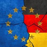 Europese Unie en Duitse vlaggen Royalty-vrije Stock Afbeelding