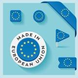 Europese Unie Gemaakt tot Symboolinzameling Stock Afbeelding