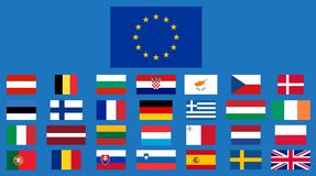 Europese Unie lid Royalty-vrije Stock Foto